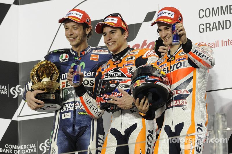 #7 Podium : Marc Márquez, Valentino Rossi, Dani Pedrosa
