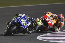 Valentino Rossi and Marc Marquez