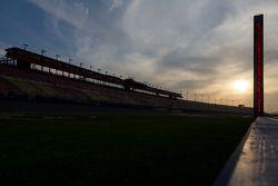 Sun sets over Fontana