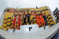 Podium: winners Felipe Fraga and Rodrigo Sperafico, second place Valdeno Brito and Jeroen Bleekemolen, third place Marcos Gomes and Mauro Giallombardo