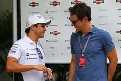 (Esquerda para direita): Felipe Massa, Williams, com Bruno Senna