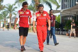 Fernando Alonso, Ferrari con Fabrizio Borra, Fisio