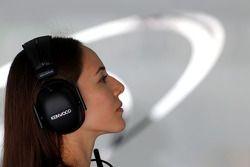 Jessica Michibata novia de Jenson Button, McLaren