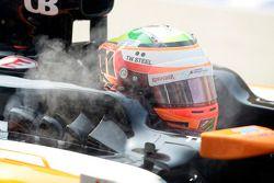 Sergio Pérez, Sahara Force India F1 VJM07 con humo en los pts