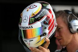 Casco de Lewis Hamilton, Mercedes AMG F1 Team