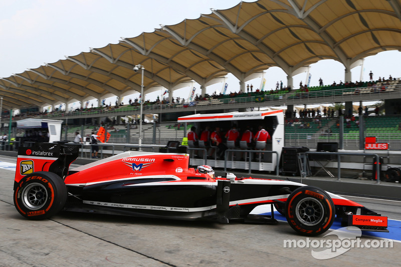 Jules Bianchi, Marussia F1 Team MR03 lascia i box