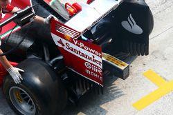 Kimi Raikkonen, Ferrari F14-T detalle del alerón trasero