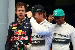 Sebastian Vettel, Red Bull Racing y Nico Rosberg, Mercedes AMG F1 W05