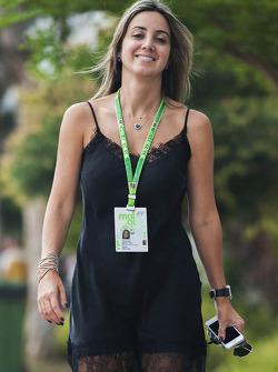 Rafaela Bassi, esposa de Felipe Massa, Williams