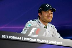 Nico Rosberg, Mercedes AMG F1 in the post qualifying FIA Press Conference