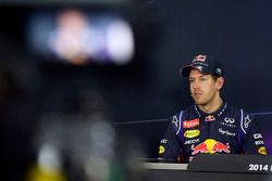 Sebastian Vettel, Red Bull Racing in the post qualifying FIA Press Conference