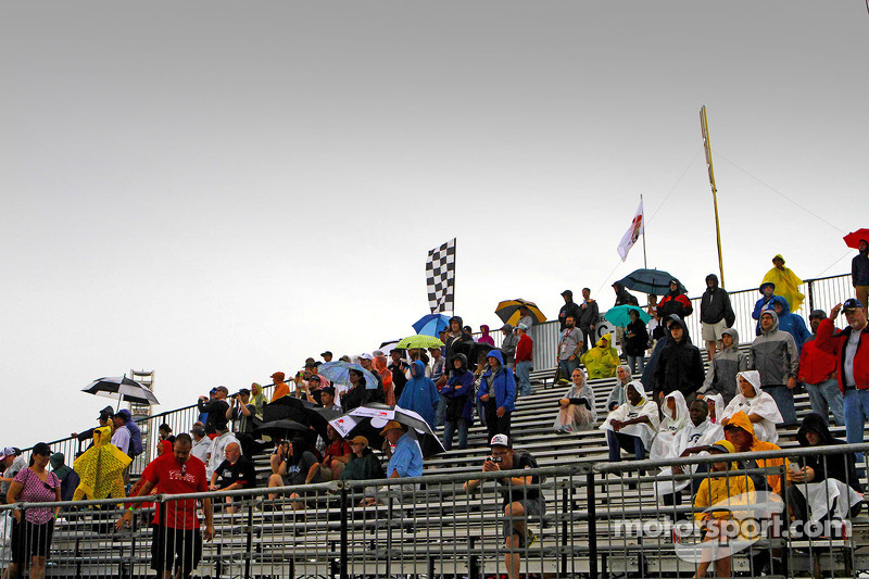 Fans brave the severe weather