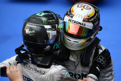 Nico Rosberg, Mercedes AMG F1 y Lewis Hamilton, Mercedes AMG F1