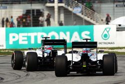 Felipe Massa, Williams FW36; Valtteri Bottas, Williams FW36