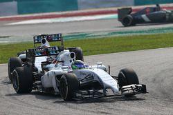 Felipe Massa, Williams FW36 y Valtteri Bottas, Williams FW36