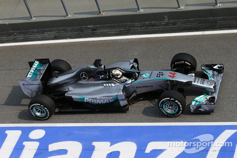 Lewis Hamilton, Mercedes W05, GP da Malásia de 2014