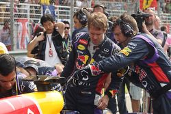 Sebastian Vettel, Red Bull Racing RB10 on the grid