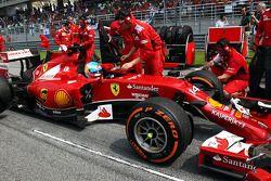 Fernando Alonso, Ferrari F14-T on the grid