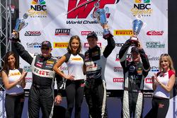 GTS领奖台:第一名劳森·阿申巴赫,第二名杰克·鲍德温,第三名安迪·李