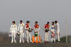 Champions DTM : Bruno Spengler, Mattias Ekström, Audi Sport Team Abt Sportsline, Audi A5 DTM, Mike Rockenfeller, Audi Sport Team Phoenix Audi RS 5 DTM, Timo Scheider, Audi Sport Team Phoenix Audi RS 5 DTM, Gary Paffett, Mercedes AMG DTM-Team HWA DTM