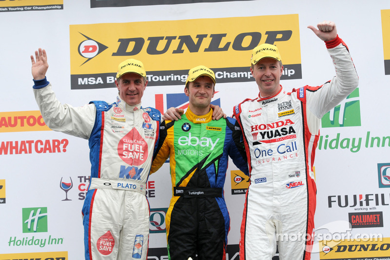 Round 3 Podium: 1st Colin Turkington, 2nd Matt Neal, 3rd Jason Plato