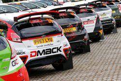 42 Ford Fiestas en el Rally de Portugal