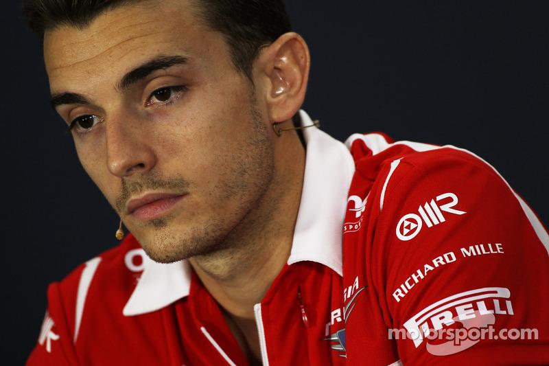 Jules Bianchi, Marussia F1 Team alla conferenza stampa FIA
