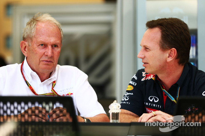 (L to R): Dr Helmut Marko, Red Bull Motorsport Consultant with Christian Horner, Red Bull Racing Tea
