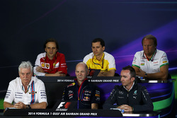 Remi Taffin, Renault Sport F1; Robert Fernley, Sahara Force India F1 Team; Pat Symonds, Williams; Adrian Newey, Red Bull Racing