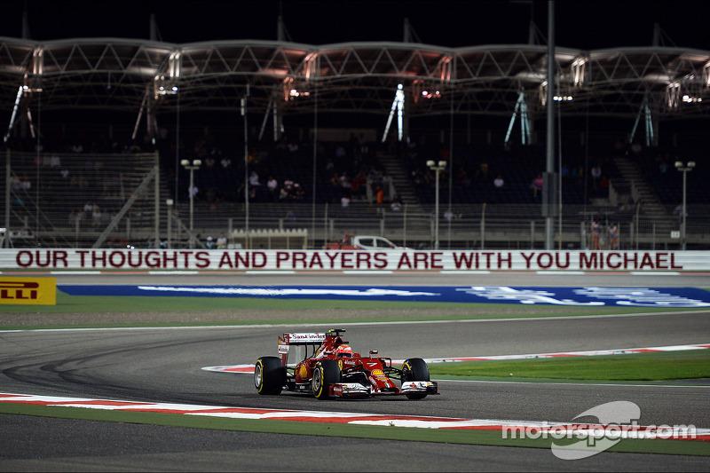 Mito inmortalizado: el ganador de la primera carrera de F1 en Bahrein, Michael Schumacher, fue homenajeado en 2014 tras su grave accidente de esquí a finales de 2013, y la curva 1 pasó a llevar su nombre.