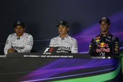 Lewis Hamilton, Mercedes AMG F1, Nico Rosberg, Mercedes AMG F1, Daniel Ricciardo, Red Bull Racing e