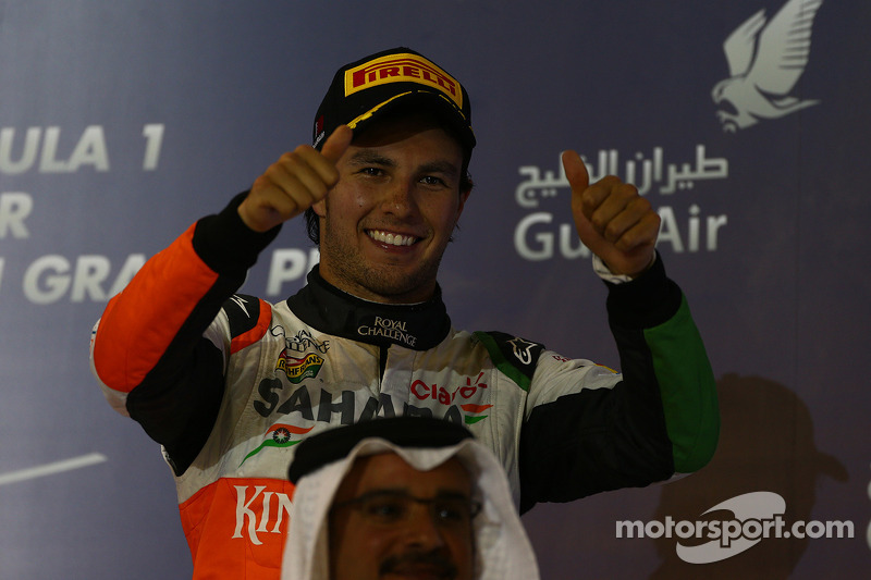 Tercer lugar Sergio Pérez, Sahara Force India F1