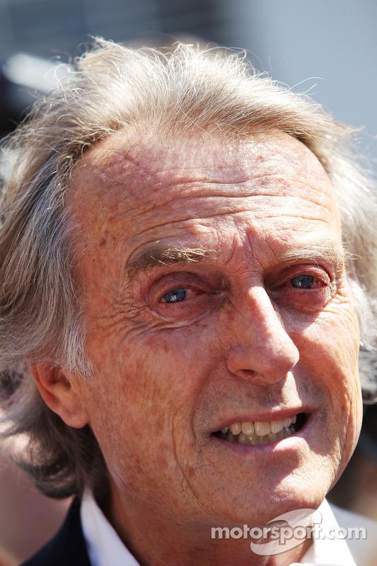 Luca di Montezemolo, presidente da Ferrari com a mídia