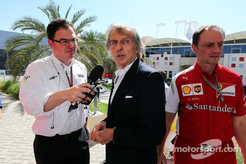 Luca di Montezemolo, Ferrari Başkanı ve James Allen, Gazeteci ve BBC Radio 5 Canlı Yayın Yorumcusu