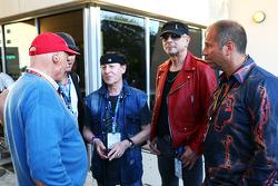 Niki Lauda, Mercedes; Kai Ebel, RTL