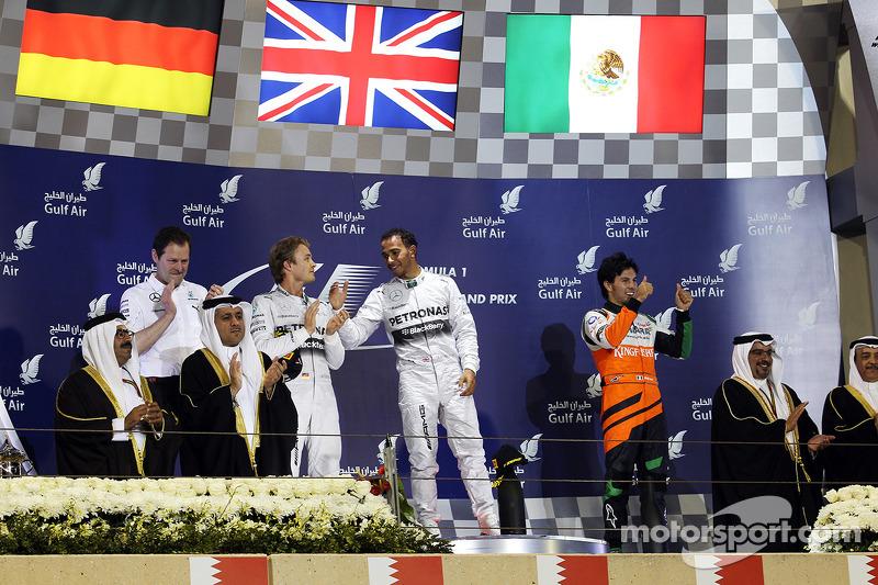 Podio:, Mercedes AMG F1, Primer lugar Lewis Hamilton, Mercedes AMG F1, tercer lugar Sergio Perez, Sa