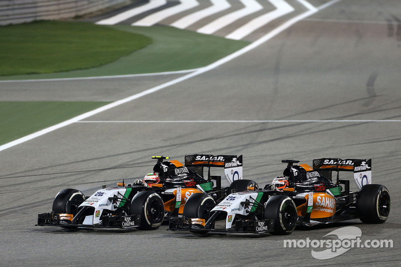 Sergio Perez, Sahara Force India, e Nico Hulkenberg, Sahara Force India  06