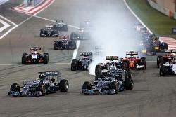 Arrancada, Nico Rosberg, Mercedes AMG F1 Team y Lewis Hamilton, Mercedes AMG F1 Team