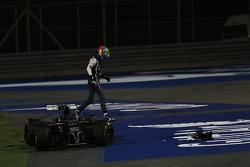Esteban Gutiérrez, Sauber y Pastor Maldonado, Lotus F1 Team choque