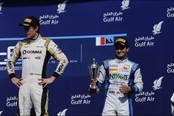 Race winner Jolyon Palmer, third place Julian Leal