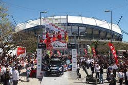 Segundo lugar Mikko Hirvonen y Jarmo Lehtinen, M-Sport Ford Fiesta WRC