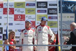 3èmes: Mads Ostberg et Jonas Andersson, Citroën DS3 WRC, Citroën Total Abu Dhabi World Rally Team