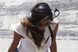Nicole Scherzinger, Singer and girlfriend of Lewis Hamilton, Mercedes AMG F1 09