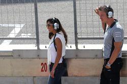 Nicole Scherzinger, cantante e fidanzata di Lewis Hamilton, Mercedes AMG F1 09