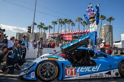 Scott Pruett Celebrates the race in