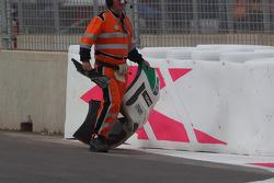 Tiago Monteiro, Honda Civic WTCC, Castrol Honda WTC Team, accidenté