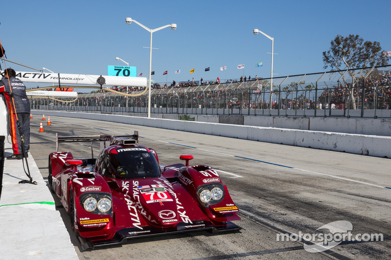 Abandono prematuro para o #70 SpeedSource Mazda: Tom Long, Sylvain Tremblay