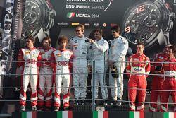 Pro-Am组别领奖台: Stéphane Comandini, Eugenio Amos, Stefano Colombo
