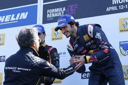 Podium: le vainqueur Carlos Sainz Jr.