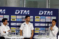 Mike Rockenfeller, Audi Sport Team Phoenix; Martin Tomczyk, BMW Team Schnitzer; Pascal Wehrlein, Mer